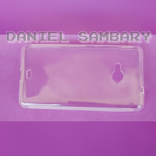 kit 2 capas tpu silicone nokia lumia n535 transparente fume