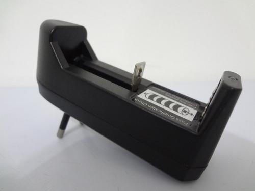 kit 2 carregador bateria lanterna 14500 18650 li 3,7v e 4,2v