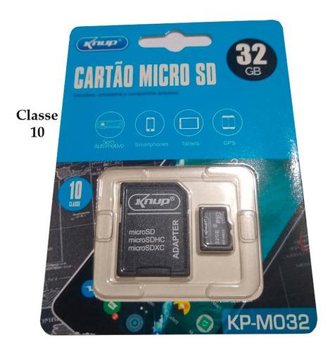 kit 2 cartão de memória knup micro sd 32gb c/ adaptador