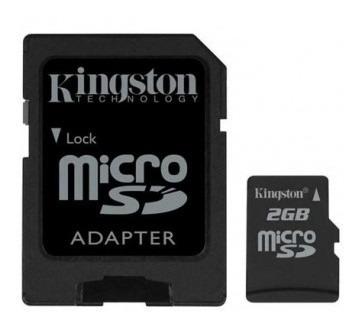 kit 2 cartão de memória micro sd kingston 2gb tf / r002 k