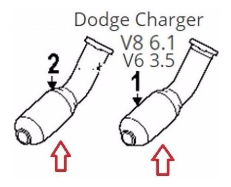 kit 2 catalizadores dodge charger v8 6.1 hg performance obd2