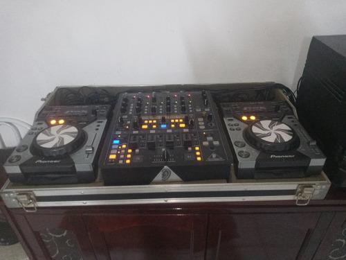 kit 2 cdj400 + mixer ddm4000