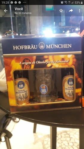 kit 2 cervejas hofbrau münchen 500 ml + 1 caneca