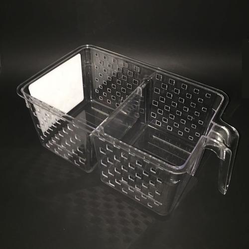 kit 2 cesta organizadora com alça para geladeira despensa g