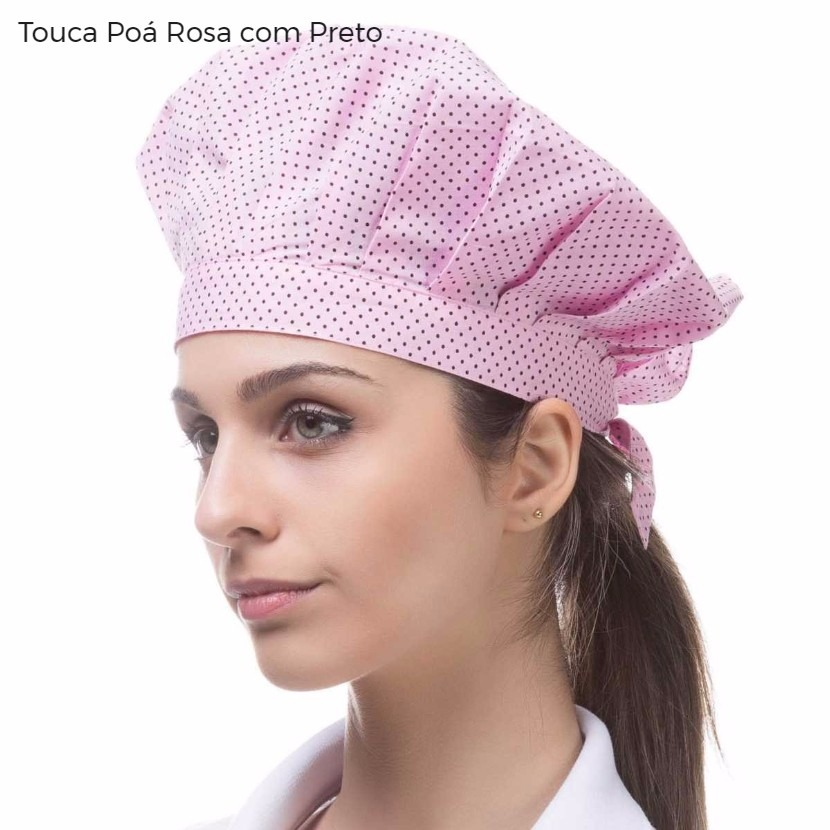 Kit 2 Chapéus Femininino Estampado Touca Gourmet Chef - R  50 b1a142c7f13