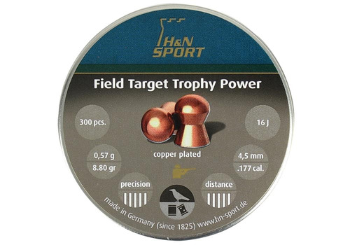 kit 2 chumbinho h&n field target trophy power 4.5mm 300un.
