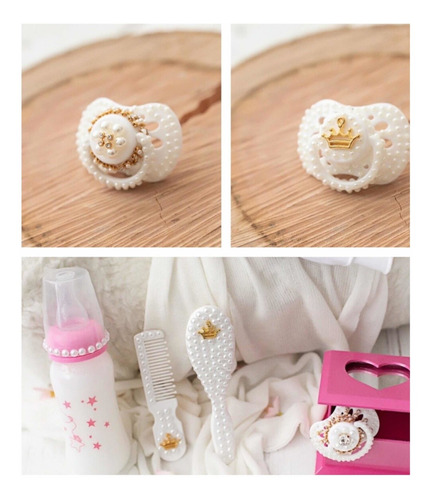 kit 2 chupeta mamadeira para bebê reborn realista