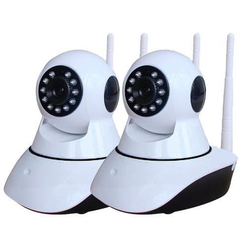 kit 2 câmera ip visão noturna wifi 720p 1.3 mp 2 antenas