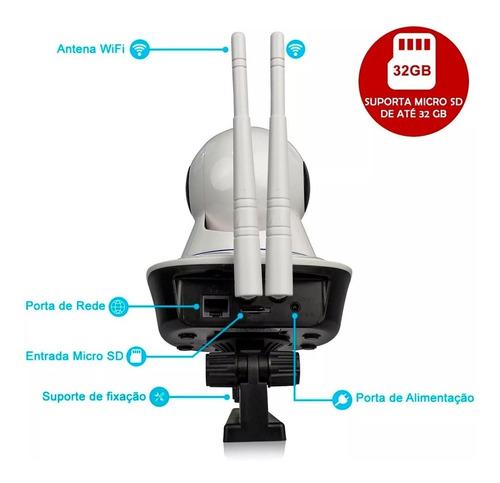 kit 2 câmera ip wifi segurança wireless p2p hd visão noturna