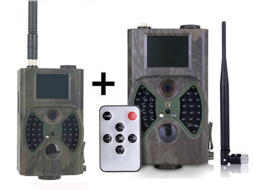 kit 2 câmeras de trilha suntek hc300m visão noturna