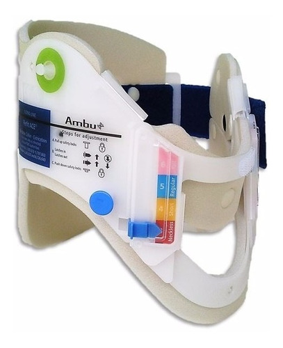 kit 2 colares cervical regulável ambu 1 adulto e 1 infantil