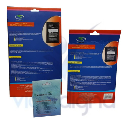 kit 2 compresas gel frio/caliente + cinta kinesiologica sc