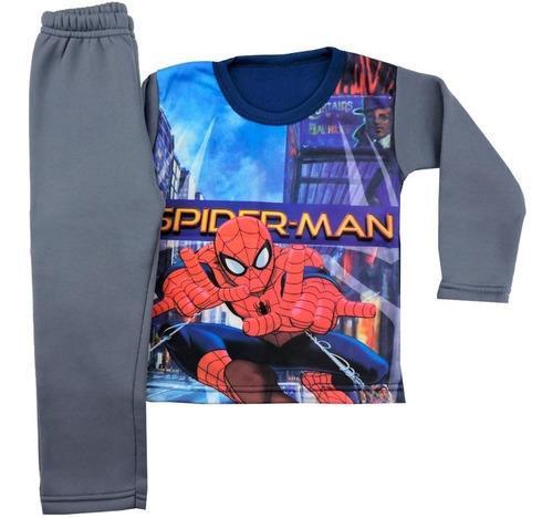 kit 2 conjunto moletom masculino roupa infantil inverno