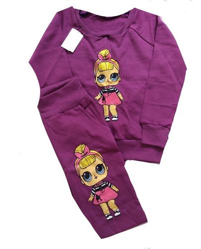 kit 2 conjuntos inverno infantil menina personagens