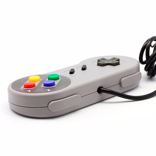 kit 2 controles de super nintendo snes similar original novo