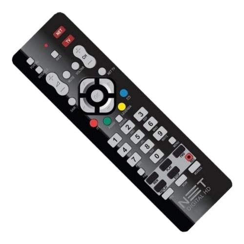 kit 2 controles remotos original net hd preto