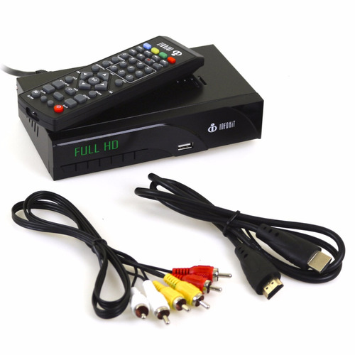 kit 2 conversor digital tv hdmi 1080p + antena externa hdtv