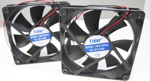 kit 2 coolers ventilador 12 x 12 sleev tidar 2 fios!!!