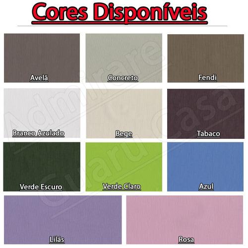 kit 2 cortinas blackout total cores 4,0x2,50m frete grátis