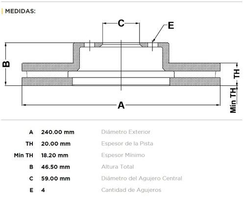 kit 2 discos freno bar fiat siena palio 1.4 uno fire 1.3 8v