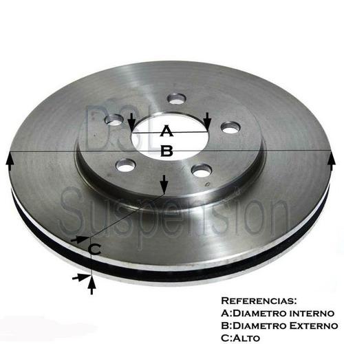 kit 2 discos solidos +  juego de pastillas fiat duna / uno