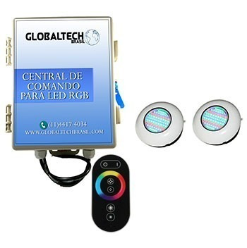 kit 2 easy led rgb 6,5w + central + controle touch