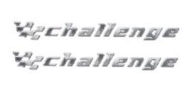kit 2 emblemas challenge astra vectra etc chevrolet + brinde