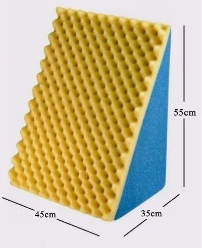 kit 2 encostos travesseiro triangulo amamentação antirefluxo