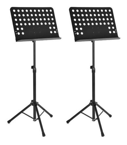 kit 2 estante suporte tripé partitura maestro resistente