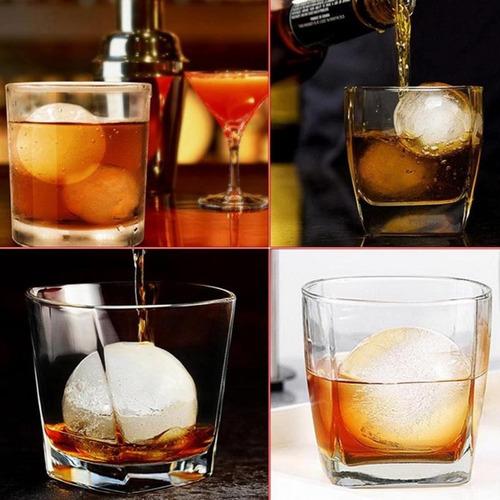 kit 2 formas de gelo bola grande whisky bebida 6 cm