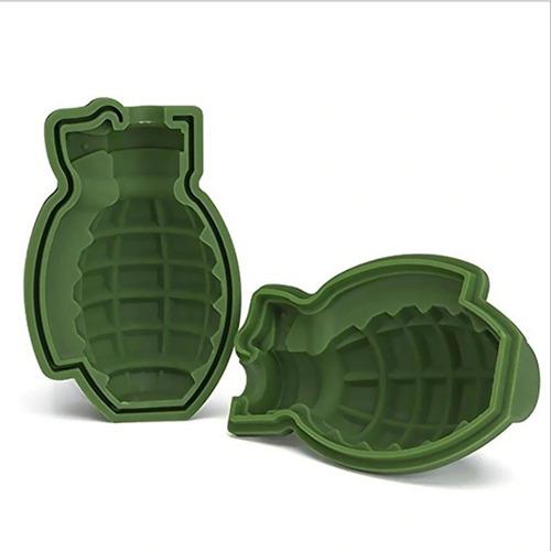 kit 2 formas de gelo granada silicone para drinks divertidos