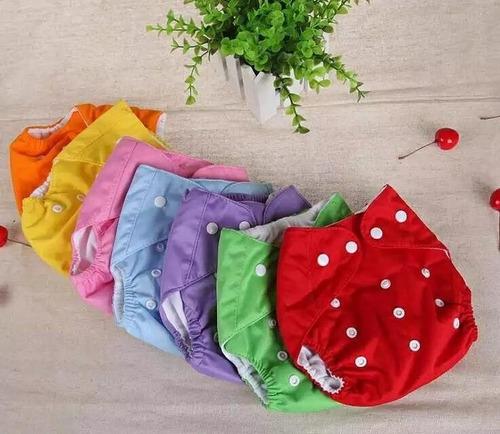 kit 2 fraldas ecológicas+2 absorventes bebês moderna de pano