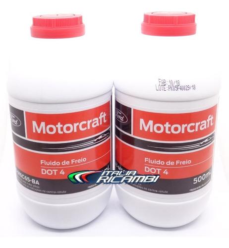kit 2 frascos fluido freio orig motorcraft dot4 linha ford