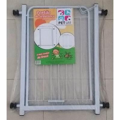 kit  2 grade portão proteção criança bebe cão extensor 10cm