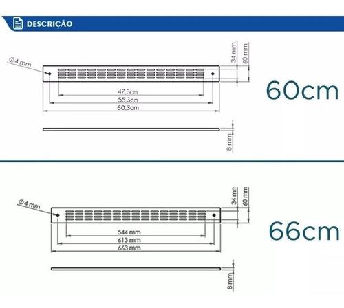 kit 2 grades de ventilação safanelli forno de embutir inox