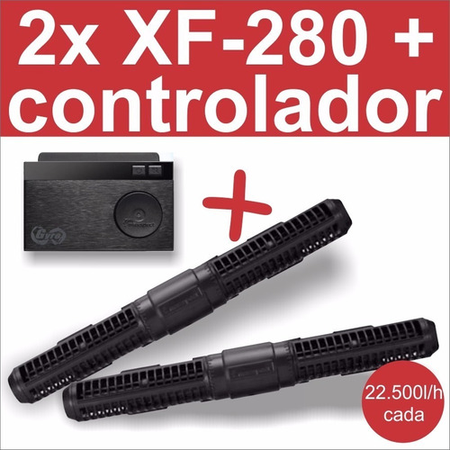 kit 2 gyre xf-280 + controlador - maxspect c nf acquarecife