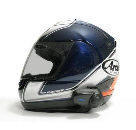 kit 2 intercomunicadores p motociclista sena smh10 dual