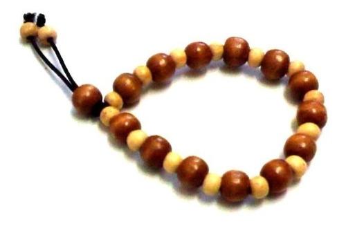 kit 2 japamala madeira 108 repetições + 2 pulseiras brinde