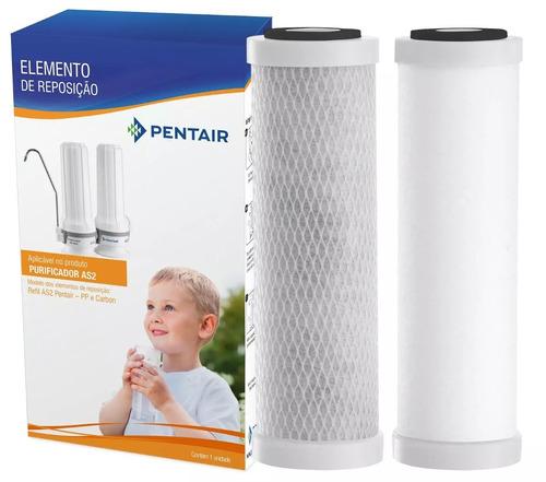 kit 2 jogos de filtros para purificador de água as2 pentair