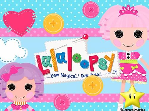 kit 2 lalaloopsy muñecas de trapo diseñá tarjetas cumples