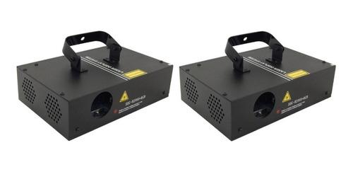 kit 2 laser b2000 rgb 400mw sensor audio dmx somos loja