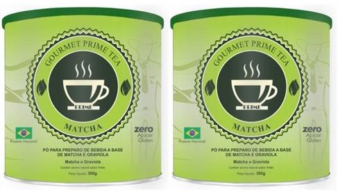 kit 2 latas prime emagrecedor - 2 matcha chá verde + brinde