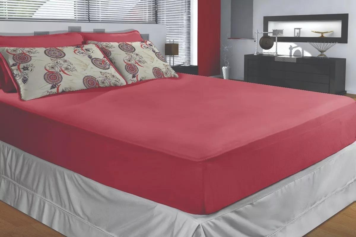 55250a30dd kit 2 lençol de malha casal queen size 3 peças várias cores. Carregando zoom .