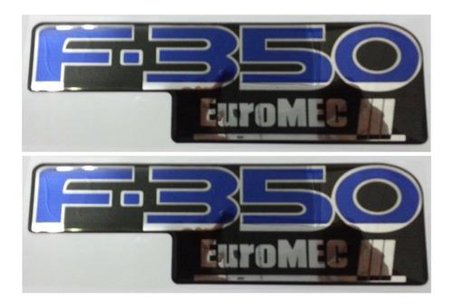 kit 2 letreiros f350 euro mec 3 f-350 resinado + brinde