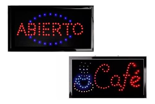 kit: 2 letreros luminosos con leds diferentes modelos wow