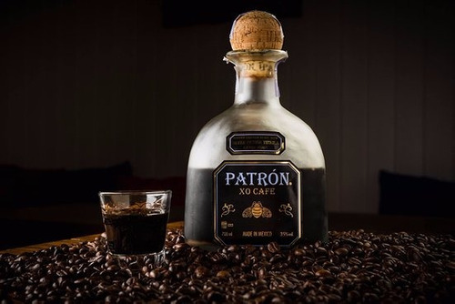 kit 2 licor tequila patrón xo café - 750ml original na caixa