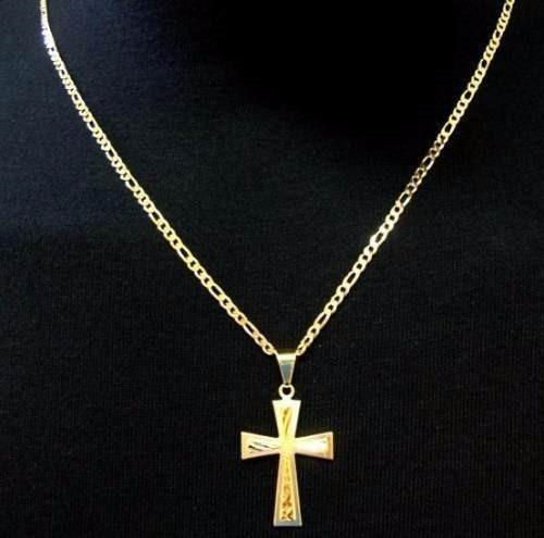 kit 2 lindo cordao corrente  banhada ouro  70cm + 2 pingente