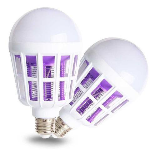 kit 2 lâmpada led mata mosquito insetos pernilongo killer15w