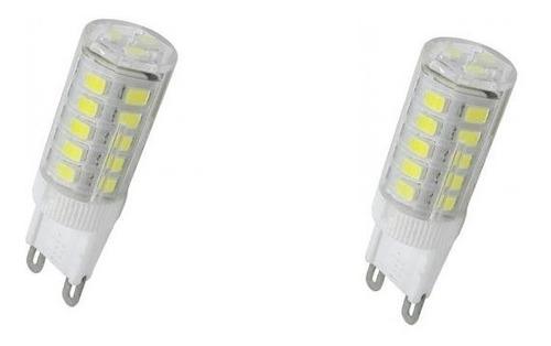 kit 2 lâmpadas halopin led 4.5w g9 ctb 3000\6000k 110\220v
