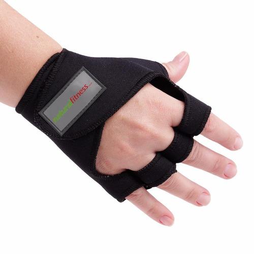 kit 2 luvas de musculação academia com protetor tamanho p+g